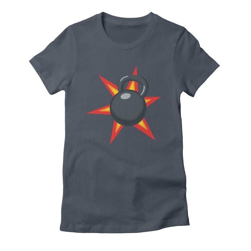 Kettlebell Women's T-Shirt by Power Artist Shop