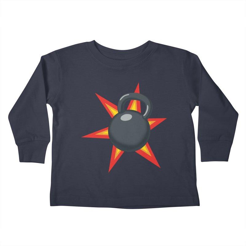 Kettlebell Kids Toddler Longsleeve T-Shirt by Power Artist Shop