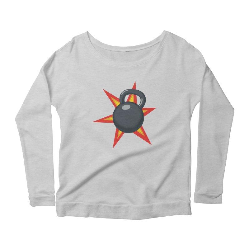 Kettlebell Women's Scoop Neck Longsleeve T-Shirt by Power Artist Shop