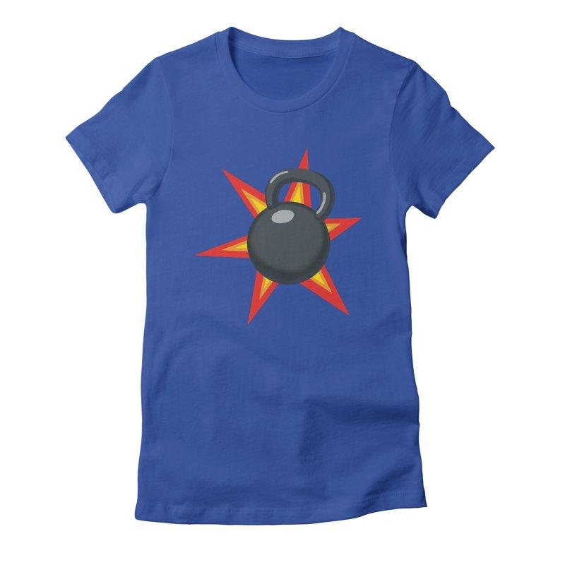 Kettlebell Women's Fitted T-Shirt by Power Artist Shop