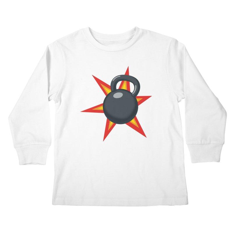 Kettlebell Kids Longsleeve T-Shirt by Power Artist Shop