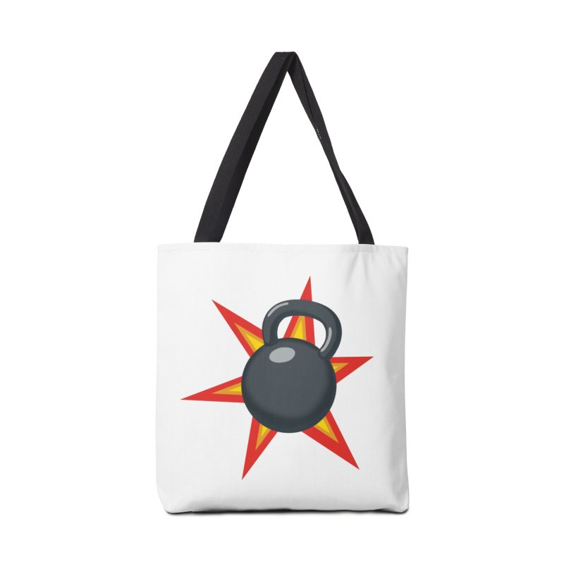 Kettlebell Accessories Tote Bag Bag by Power Artist Shop