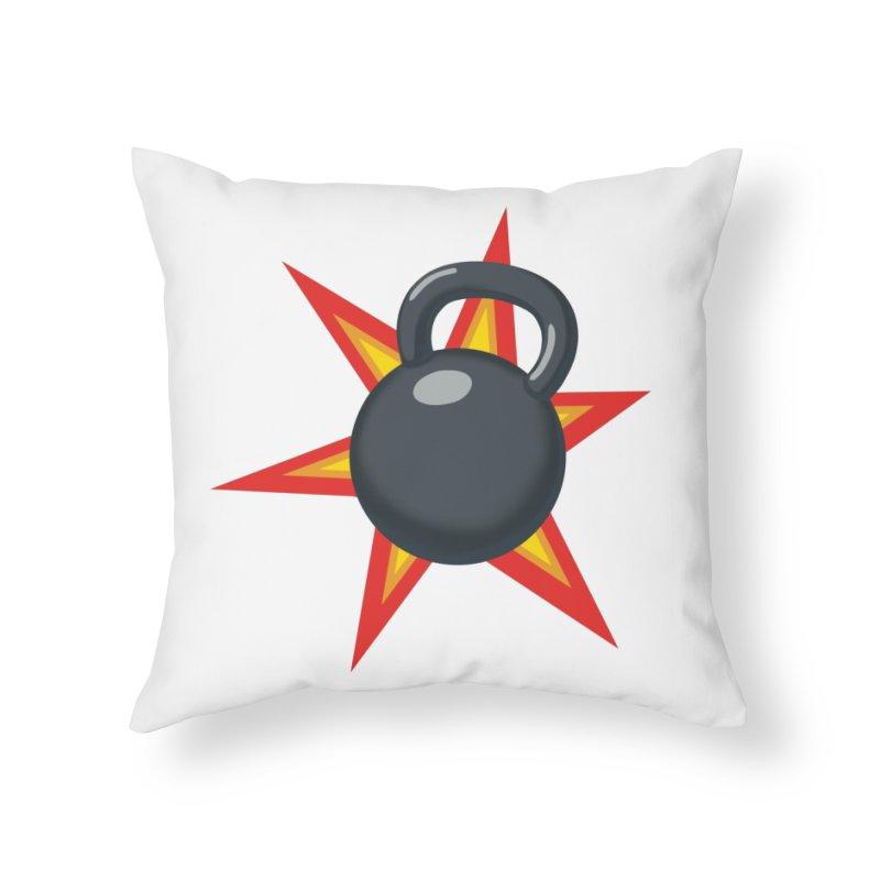 Kettlebell Home Throw Pillow by Power Artist Shop