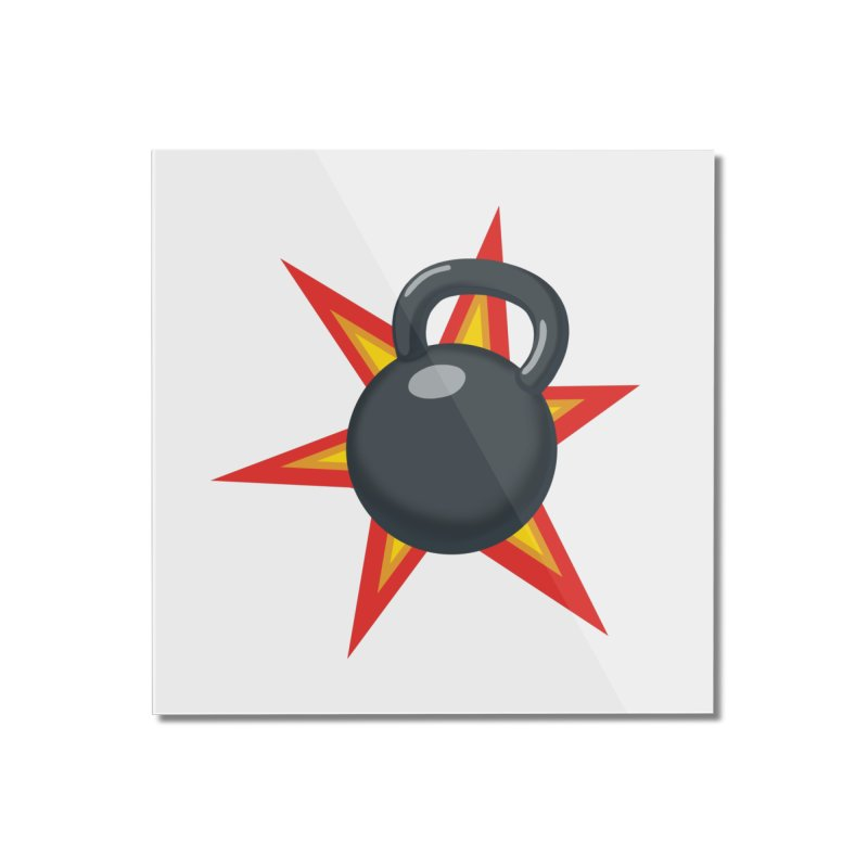 Kettlebell Home Mounted Acrylic Print by Power Artist Shop