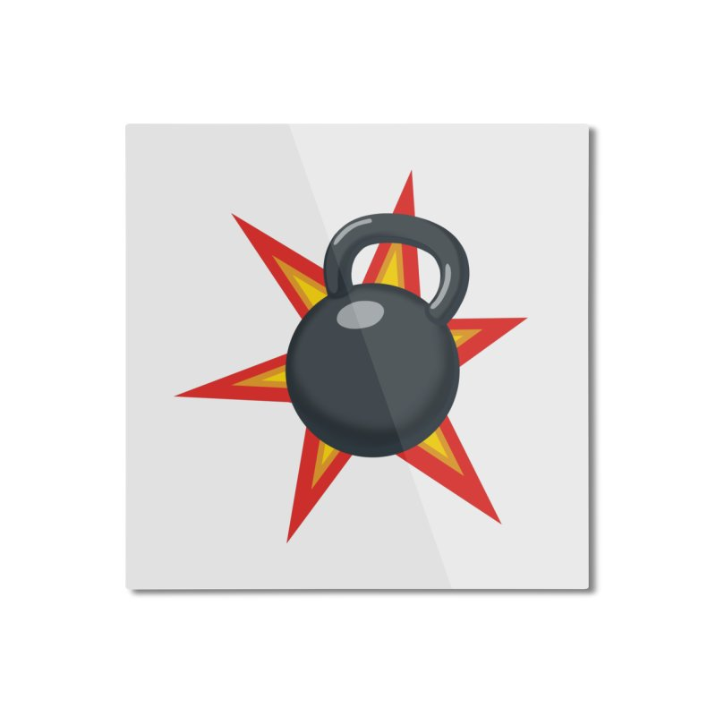 Kettlebell Home Mounted Aluminum Print by Power Artist Shop