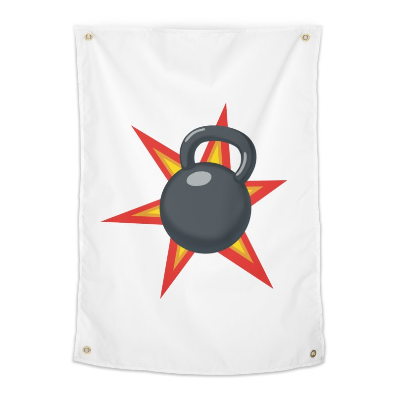Kettlebell Home Tapestry by Power Artist Shop