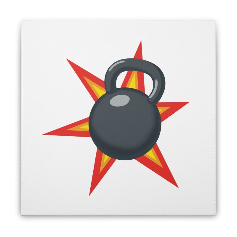 Kettlebell Home Stretched Canvas by Power Artist Shop