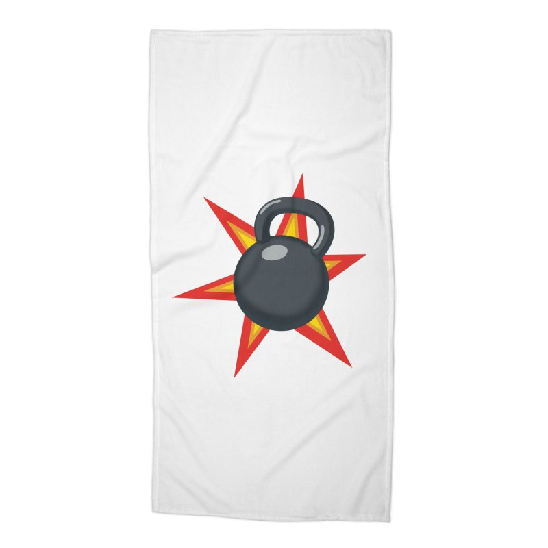Kettlebell Accessories Beach Towel by Power Artist Shop
