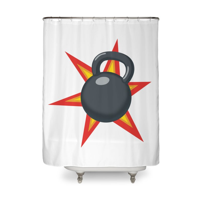 Kettlebell Home Shower Curtain by Power Artist Shop