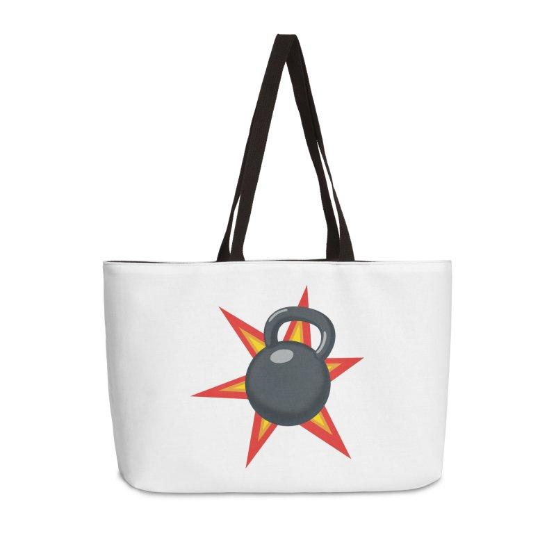 Kettlebell Accessories Weekender Bag Bag by Power Artist Shop