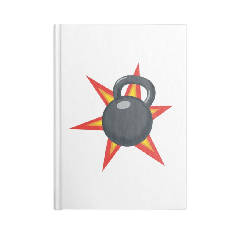 Kettlebell Accessories Blank Journal Notebook by Power Artist Shop