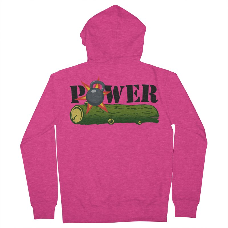 Power Women's French Terry Zip-Up Hoody by Power Artist Shop