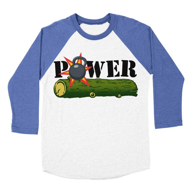 Power Women's Baseball Triblend Longsleeve T-Shirt by Power Artist Shop