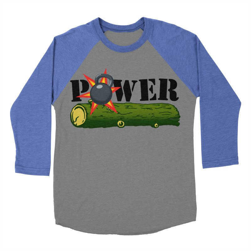Power Women's Baseball Triblend Longsleeve T-Shirt by Power Artist Shop