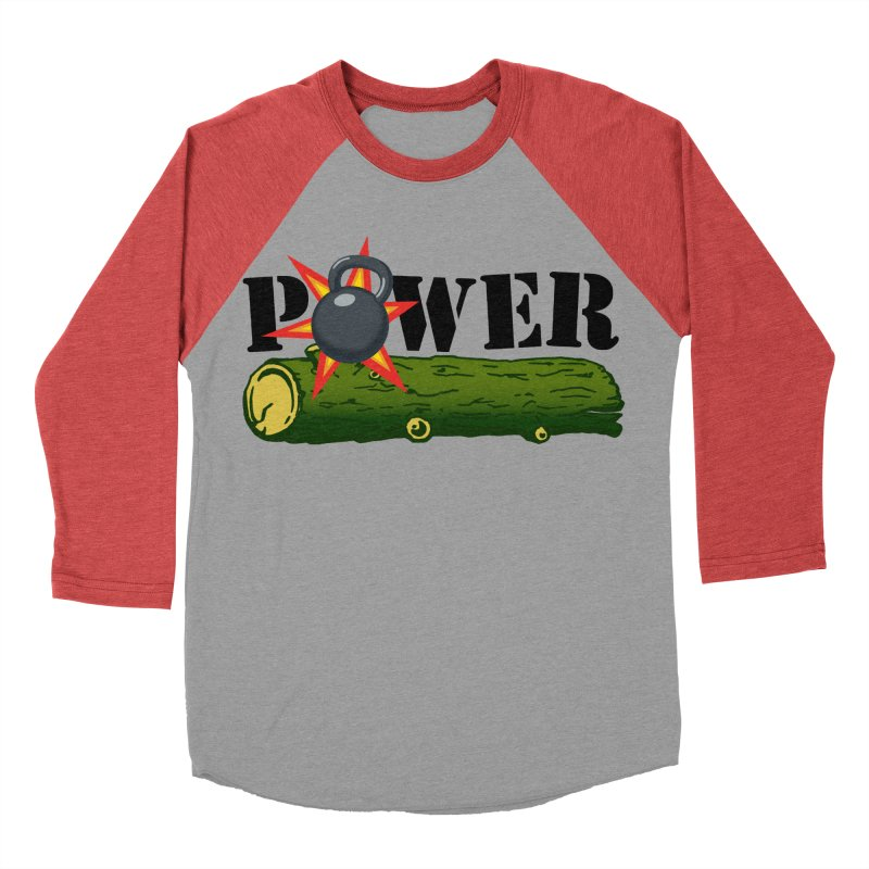 Power Men's Baseball Triblend Longsleeve T-Shirt by Power Artist Shop