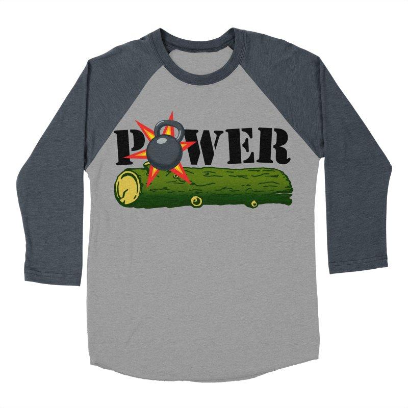 Power Men's Baseball Triblend Longsleeve T-Shirt by Power Artist Shop