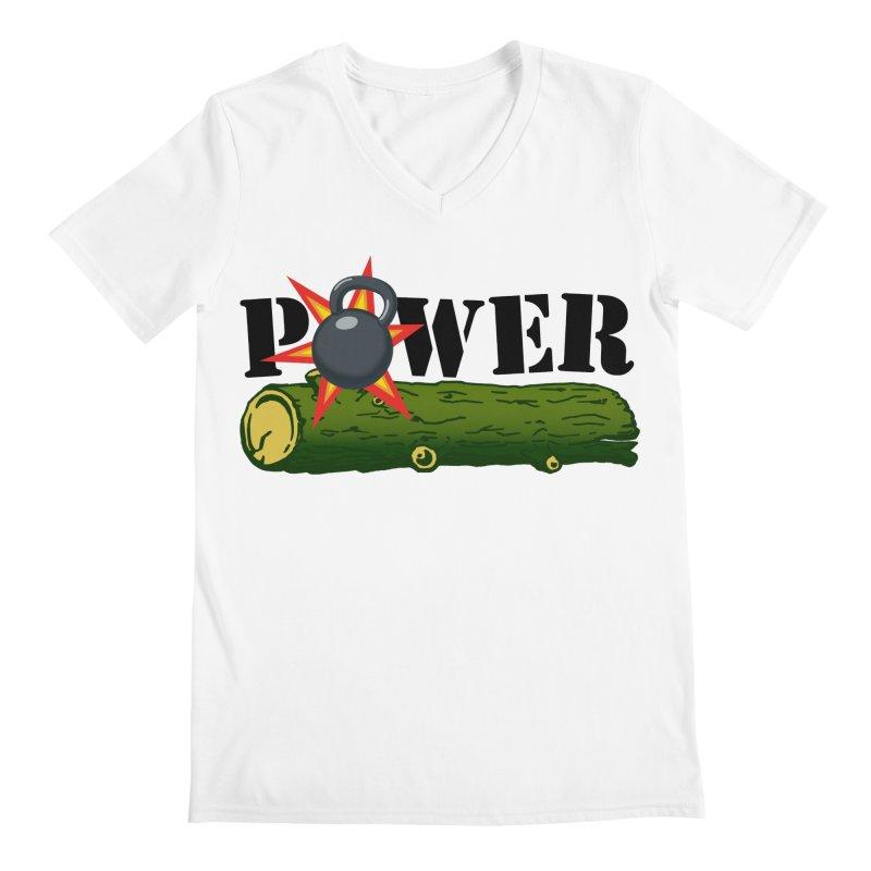 Power Men's V-Neck by Power Artist Shop