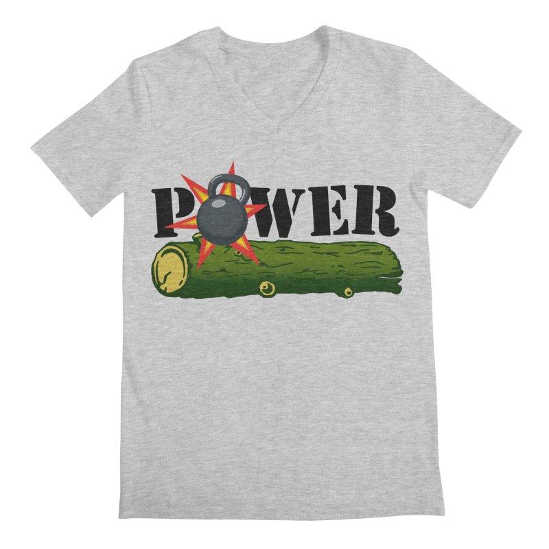 Power Men's Regular V-Neck by Power Artist Shop