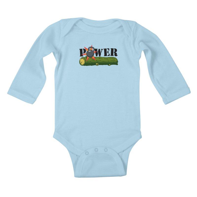 Power Kids Baby Longsleeve Bodysuit by Power Artist Shop