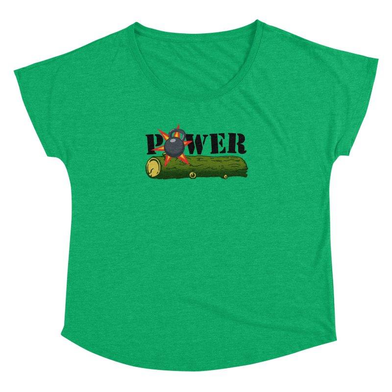 Power Women's Dolman Scoop Neck by Power Artist Shop