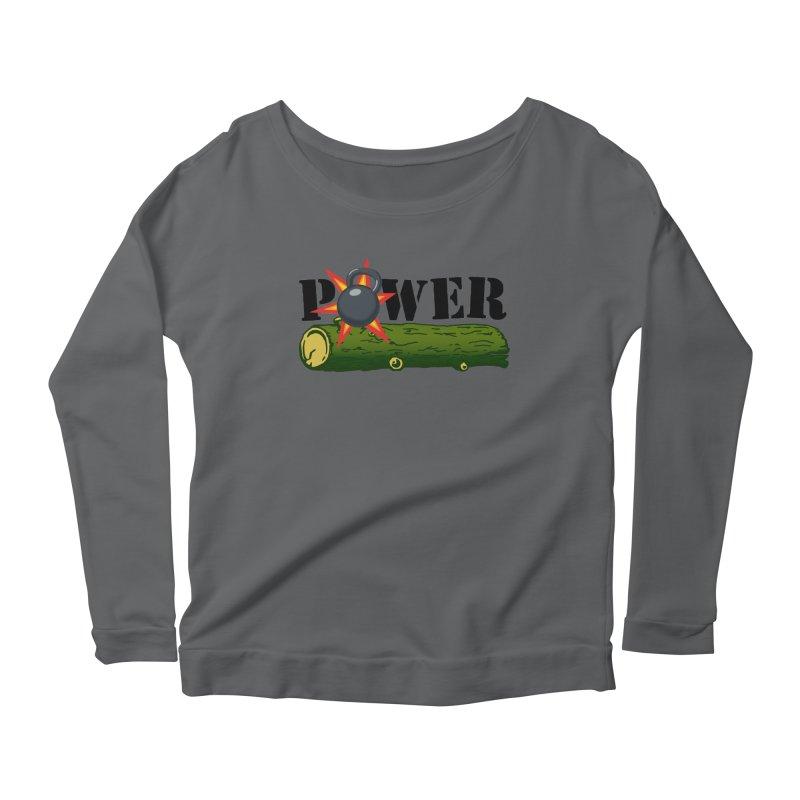 Power Women's Scoop Neck Longsleeve T-Shirt by Power Artist Shop