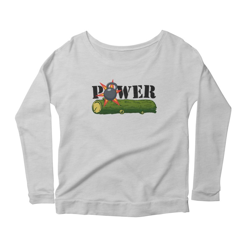 Power Women's Scoop Neck Longsleeve T-Shirt by Power Artist Shop