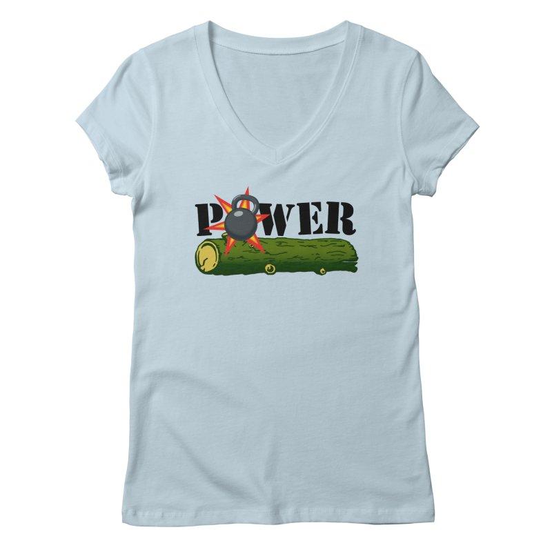 Power Women's Regular V-Neck by Power Artist Shop