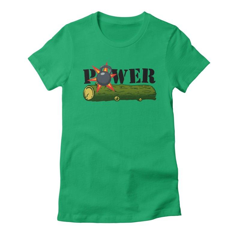Power Women's Fitted T-Shirt by Power Artist Shop