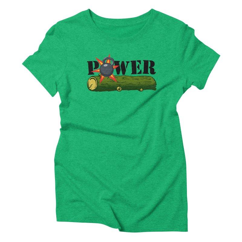 Power Women's Triblend T-Shirt by Power Artist Shop