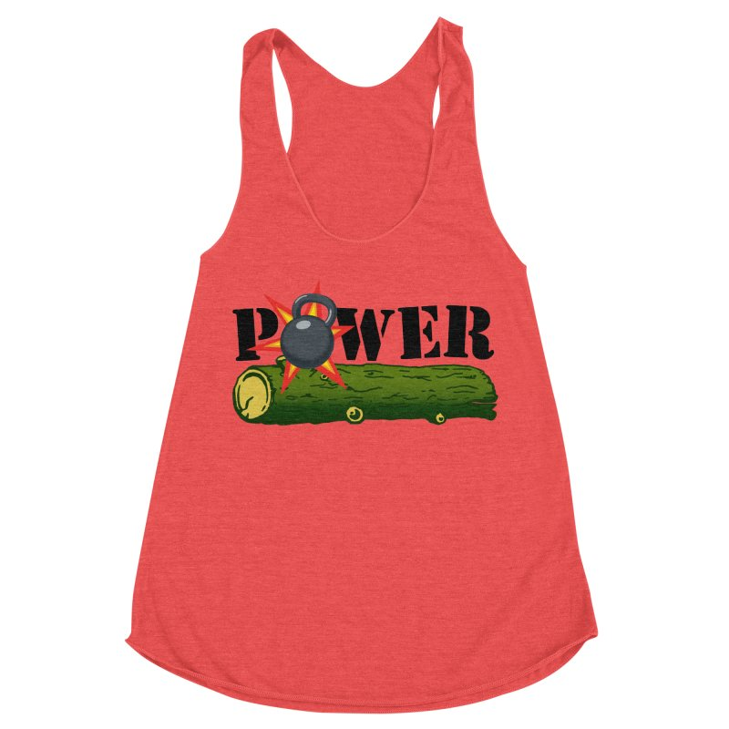 Power Women's Racerback Triblend Tank by Power Artist Shop