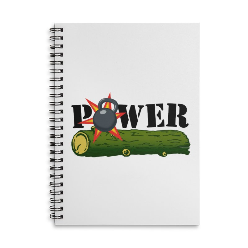 Power Accessories Lined Spiral Notebook by Power Artist Shop