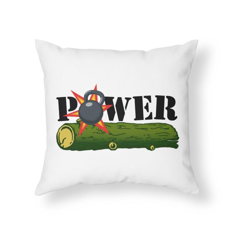 Power Home Throw Pillow by Power Artist Shop