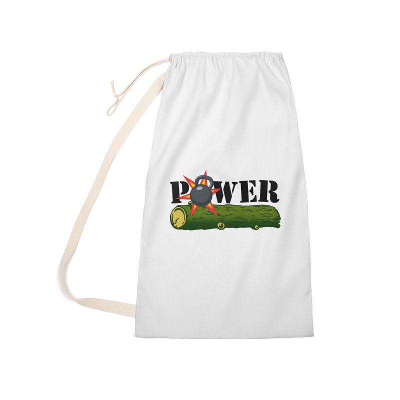 Power Accessories Laundry Bag Bag by Power Artist Shop