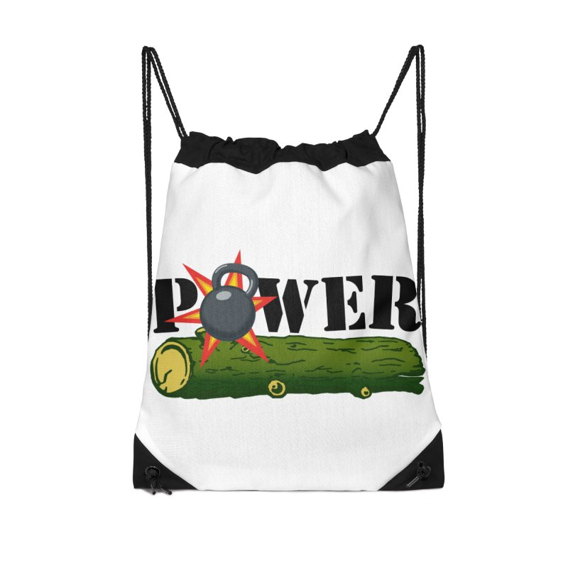 Power Accessories Drawstring Bag Bag by Power Artist Shop