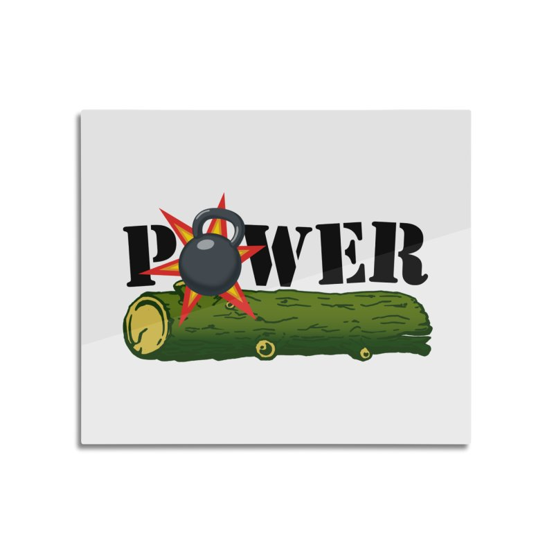 Power Home Mounted Aluminum Print by Power Artist Shop