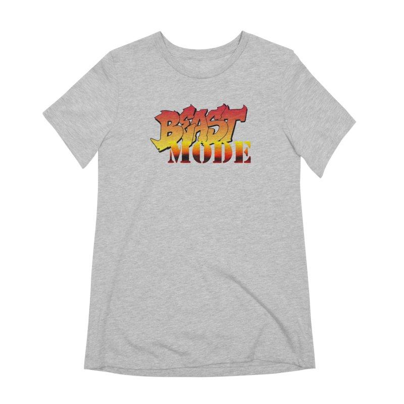 Beast Mode Women's Extra Soft T-Shirt by Power Artist Shop
