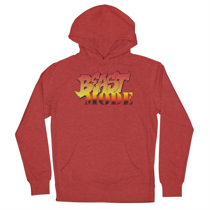 Beast Mode Women's French Terry Pullover Hoody by Power Artist Shop