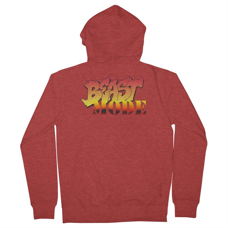 Beast Mode Women's French Terry Zip-Up Hoody by Power Artist Shop