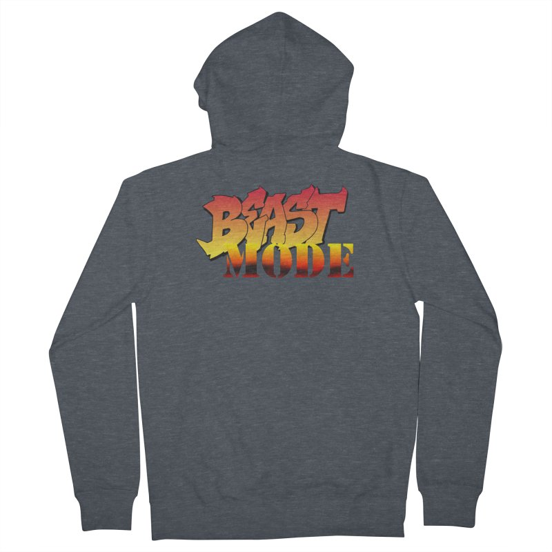 Beast Mode Men's French Terry Zip-Up Hoody by Power Artist Shop