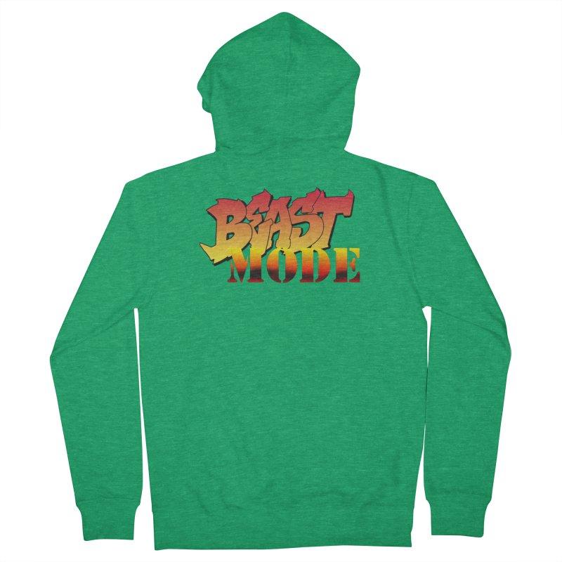 Beast Mode Men's Zip-Up Hoody by Power Artist Shop