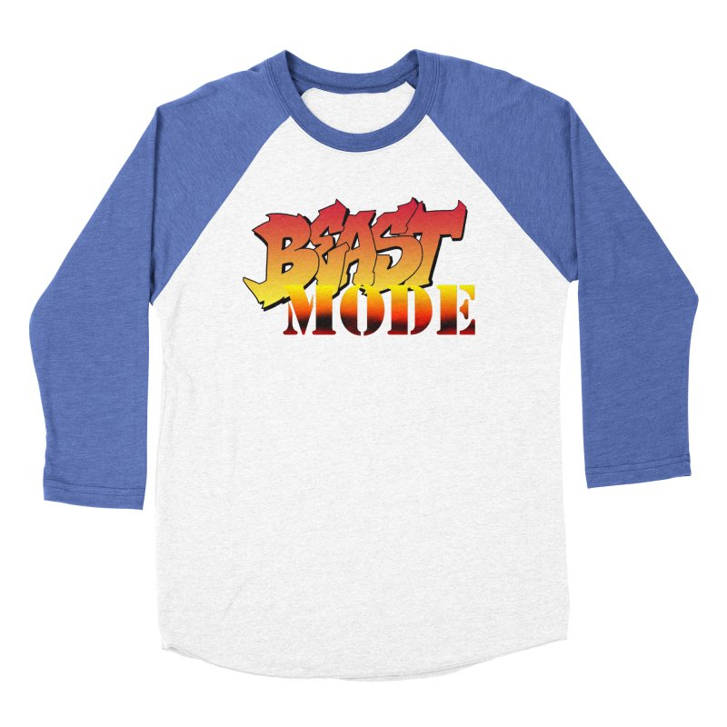Beast Mode Women's Baseball Triblend Longsleeve T-Shirt by Power Artist Shop
