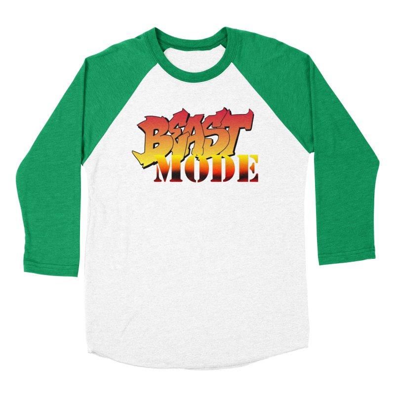 Beast Mode Men's Baseball Triblend Longsleeve T-Shirt by Power Artist Shop