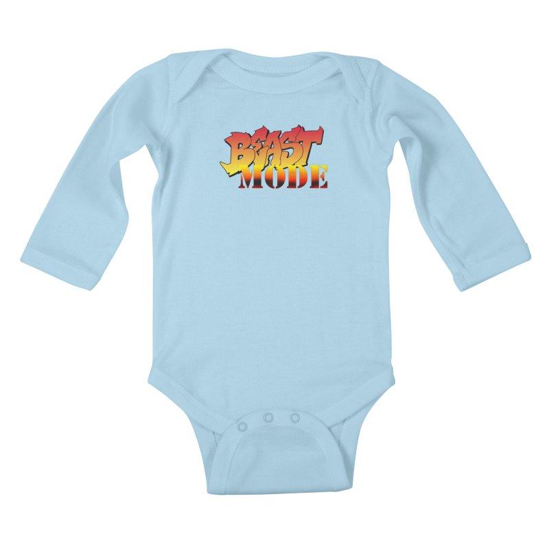 Beast Mode Kids Baby Longsleeve Bodysuit by Power Artist Shop