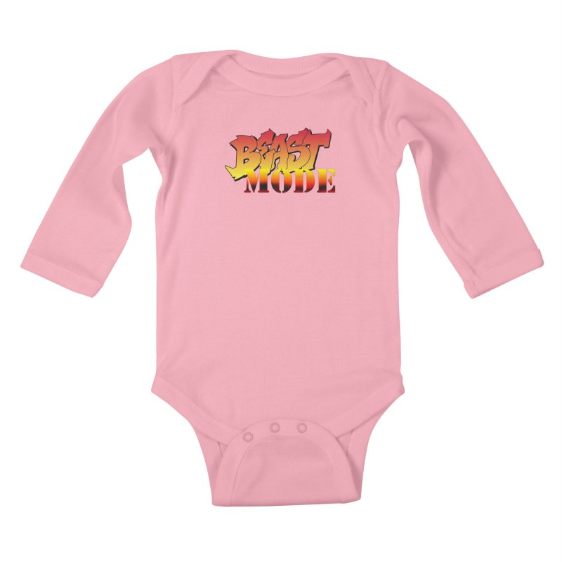 Beast Mode Kids Baby Longsleeve Bodysuit by Power Artist Shop