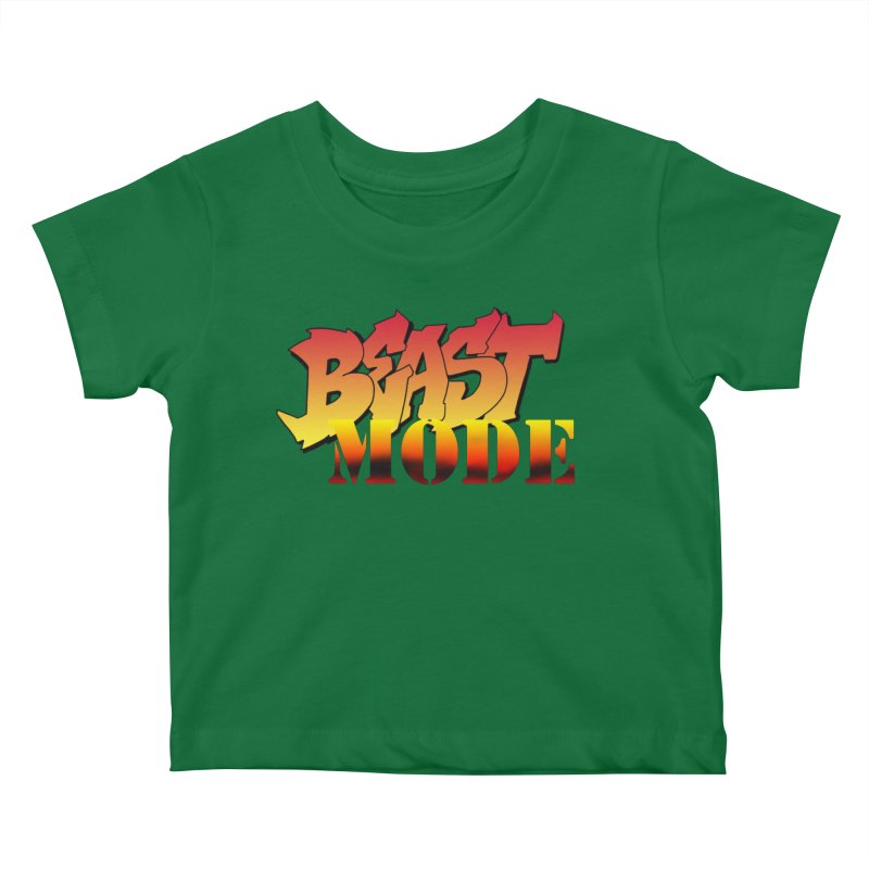 Beast Mode Kids Baby T-Shirt by Power Artist Shop