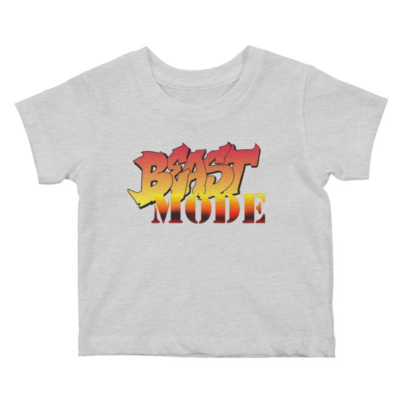 Beast Mode Kids Baby T-Shirt by Power Artist Shop