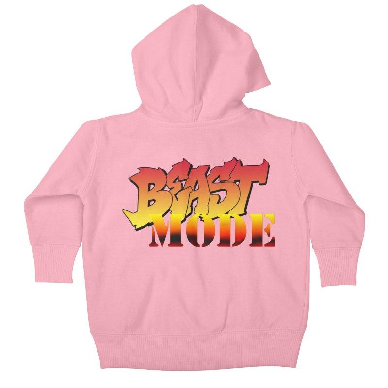 Beast Mode Kids Baby Zip-Up Hoody by Power Artist Shop