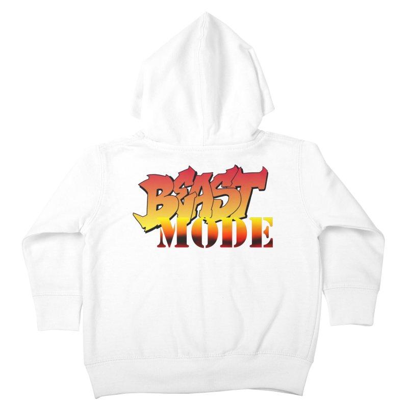 Beast Mode Kids Toddler Zip-Up Hoody by Power Artist Shop