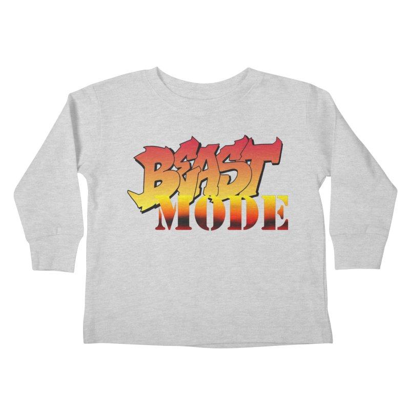 Beast Mode Kids Toddler Longsleeve T-Shirt by Power Artist Shop
