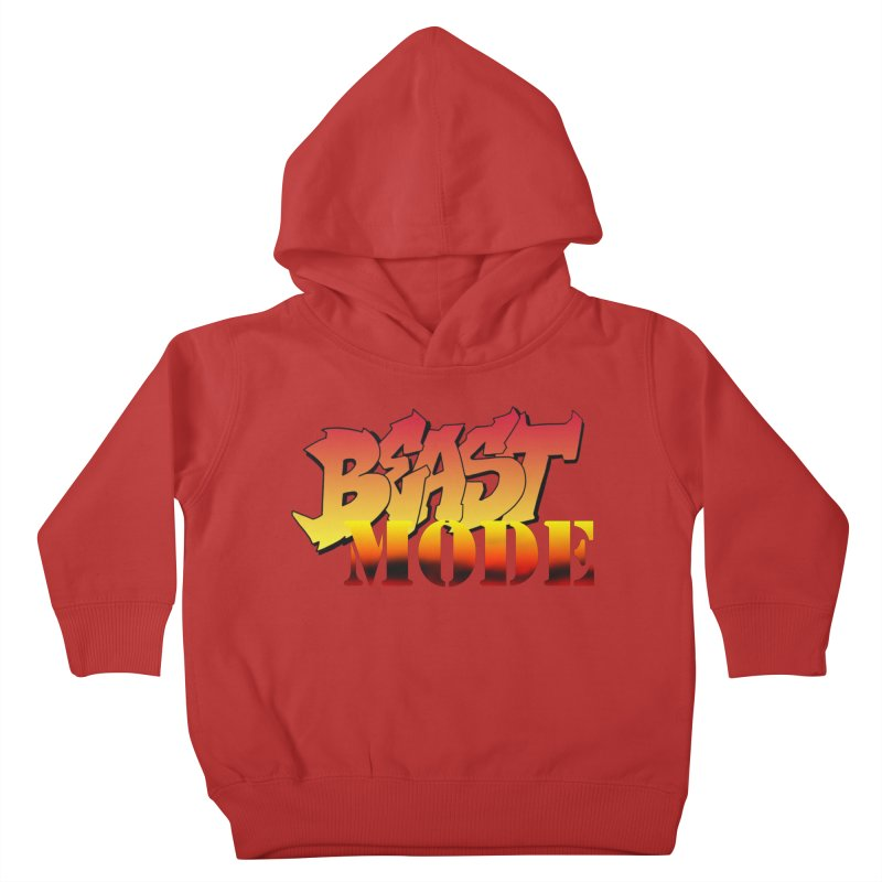 Beast Mode Kids Toddler Pullover Hoody by Power Artist Shop